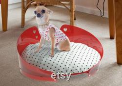 Modern Dog Bed, small pet bed gift cat basket Luxury dog furniture and cat beds No toxic resin basket with washable pillow made in Italy