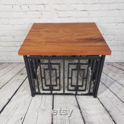 Modern Dog Crate, Layla (S) Wide, Dog Kennel Furniture, Dog Crate End Table, Dog Crate Table, Dog Crate Furniture