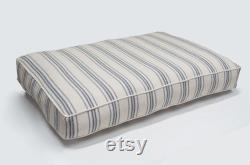Modern Farmhouse Dog Bed with Plush Insert Grain Sack Dog Bed, Country Dog Bed, Window Seat Red Stripe, Blue Stripe, Black Stripe