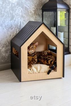 Modern dog and cat house dog bed cat bed wooden pet house modern pet house modern pets furniture dog pillowithcat pillowithindoor dog house