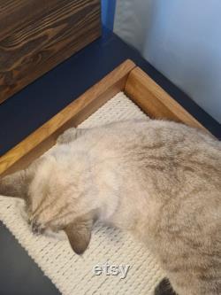 Oak Cat bed Scratching Post Scratching bed Cotton scratcher Luxury pet furniture