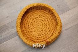 Oslo mustard design basket for cat