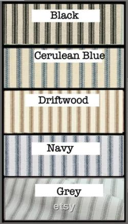 Personalized, Custom Dog Crate Cover, Silk Screen Name, Ticking Stripe,