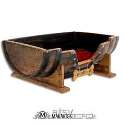 Personalized gift.Christmas gifts ideas.best gifts.Christmas gift ideas for her.gift for husband.holiday gift.friend gift (Barrel Dog Bed)