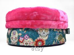 Pet bed for small dogs, dog bed pink, dog bed donut, pet snuggle sack