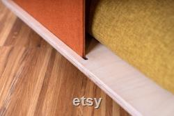 Pet house or bed with textile panel handmade cat house modern indoor dog house