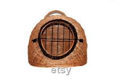 Pet wicker basket