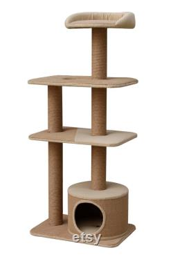 Petpals, Spire 51 4 level Beige Cat Tree with Condo and Perch