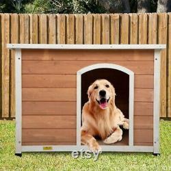 Pinewood Large Wood Dog House