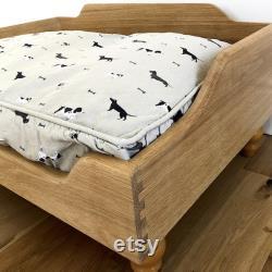 Raised Wooden Dog Bed Handmade