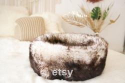 Real Sheepskin Dog Bed, Cat Bed, fur cozy soft bed, Premium Quality