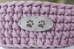 Round orthopedic mattress dog bed personalized, small dog cat bed, medium pet bed, soft cuddle pet bed, arthritic dog bed, welpe hundebett