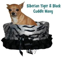 SIBERIAN TIGER Reversible Snuggle Bugs Pet Bed, Bag, And Car Seat All-in-one