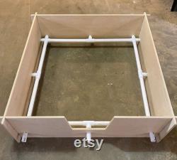 Slide assembly dog whelping box birthing bed