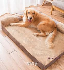 Sofa bed Mats Dogs removable and washable winter warm pet supplies Best Mats Bed For Dog Cute cotton canvas dog bed