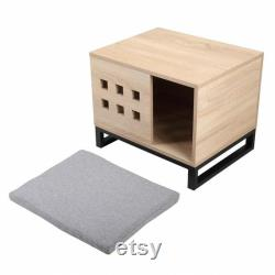 Stylish dog wooden bed pet mattress cat bunk bedding solid,The cage, the kennel