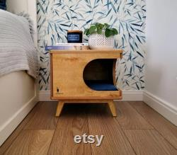 Stylish plywood cat house, cozy cat bed Rustical Box Light Oak