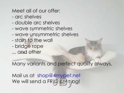 WAVE 75 UL SET 2 2 cat shelf cat shelves cat furniture cat bed cat wall shelves curved cat wall shelf wandregal katze katzenmöbel