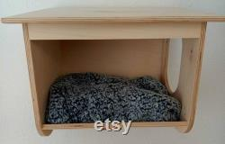 Wall Mounted Cat Bed Cottage Various Finishes Small Animal Pet House Climbing Wall Steps Shelfs Shelves Perches Platforms Furniture Supplies