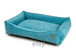 Washable Orthopedic dog bed Pro Medical Sizes S XXL Removable cover Memory foam hypoallergenic fill Minimalist blue dog bed