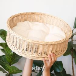 Wicker cat bed. Natural house for cat. Furniture for your cat.
