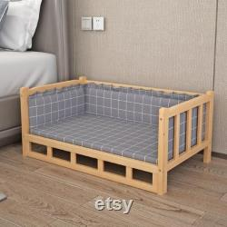 Wooden Bed Pet Dog Bed Pet Calming bed for dog and cat Pet Furniture Dog Bed Dog Furniture Dog Gift Dog Accessories
