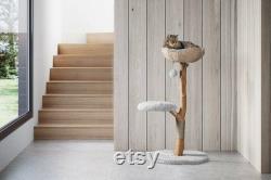Wooden Cat Condo, Unique branch Cat Tree, Wood Cat Tree, Cat Climbing, Furniture For Cat