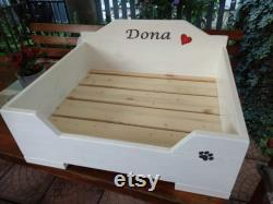 Wooden Dog Furniture Wood Dog Bed Wooden Dog House Best choice for Dogs and Pets Gift for Dog Wood Furniture for Pets