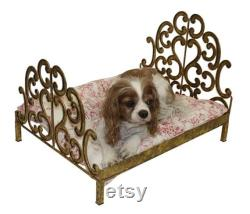 Wrought Iron Pet Bed in Italian Gold