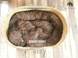 XL Bolga Dog Bed Basket Dog Basket Handmade Dog Bed Comfortable Dog Bed Wicker Dog Bed African Dog Bed Natural Pet Bed
