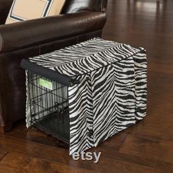 Zebra Black Dog Crate Cover Designer