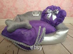 dog bed, soft comfortable lounger for dogs and cats, soft bed, elegant bed, comfortable lounger for animals