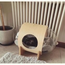 floor-mounted space capsule cat bed cat tree pet furniture