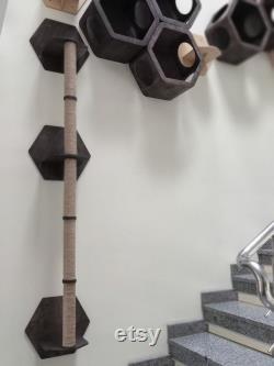 scratching post wall, Cat scratcher wall mount, scratching post, modern cat furniture, wall furniture, Unique Cat Trees, Wood Cat Tree,