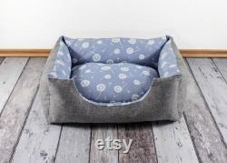 unique item, dog bed, cat bed, dandelion, light blue, blue, dandelion, soft, pet, sleeping place, dog pillow, noble, animals