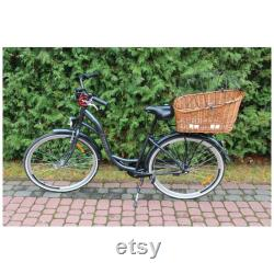wicker basket bicycle carrier cat dog transporter handmade carrier basket pet transporter