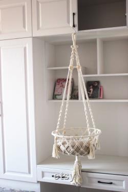 5mm Corde De Coton Lourd Macrame Cat Bed, Macrame Cat Basket, Suspension Cat Swing, Macrame Cat Hammock, Suspension Cat Basket, Suspension Cat Bed