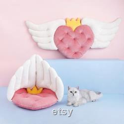 Angel Wings Forme Mignon Canapé Durable, Lit De Chat Doux, Maison De Chat Mignon, Nid De Chat Mignon, Lit De Grotte De Chat, Lit D'animal Pour Chats