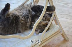 Bois Lit Chats Panier En Bois Animaux Meubles De Chat Chat Swing Cat Cave Cat Shelter Cat Hammock Cadeau De Noël Pour Le Propriétaire De Chat