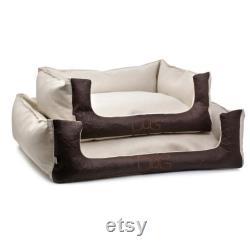 Brown Pi Atex 100 Matériaux Naturels Confortable Lit De Chien, Absorbant Les Odeurs, Respectueux De L'environnement, À La Main De Haute Qualité