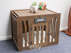 Chien En Bois Fait Main Kennel Animaux Meubles Chien En Bois Kennel Chien En Bois Kennel Bois Crate Chien Moderne Maison Chien Maman Cadeau