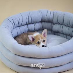 Cloud Dog Bed Gray Washable Pet House Handmade Dog Bed Scandinavian Home Decor Small Medium Large Bed For Dog Or Cat