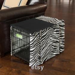Conception De Couverture De Caisse De Chien Noir Zebra