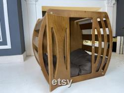 Dog House, Wooden Pet House, Dog Bed, Dog Crate, Dog Kennel, Wood Dog House, Pet House, Pet Furniture, Meubles Pour Chiens