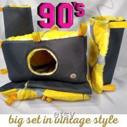 Ensemble D'accessoires Solides Pour Rongeurs Et Petits Animaux De Style Vintage