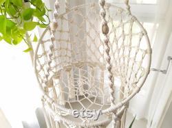 Hauteur Et Couleurs Personnalisables Suspension Macrame Cat Basket Bed, Corde De Coton Lourde Macrame Cat Swing Hammock, Suspension Cat Bed, Cadeau De Chat