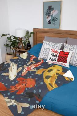 Intérieur Extérieur X-large Pet Beds Koi Pond Artwork Waterproof Dog Bed Durable Dog Bed Large Dog Bed Lavable Dog Bed 50 X 40