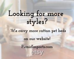 Lever De Soleil Rattan Pet Bed