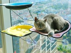 Lit D'hamac De Chat En Fer, Lit De Chat En Silt De Fenêtre, Perche De Fenêtre De Chat, Table D'étagère De Chat, Meubles De Chat De Mode, Suction Cup Cat Bed House