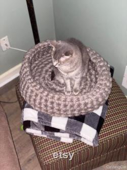 Lit De Chat Chunky Au Crochet
